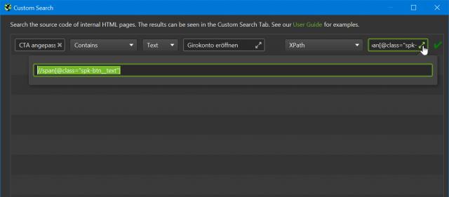 Screenshot des Konfigurationsdialoges für Custom Extraction im SEO Spider